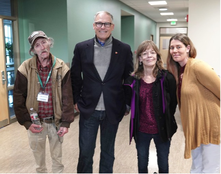 The Governor at the Bremerton Homelessness Round Table Nov. 2019